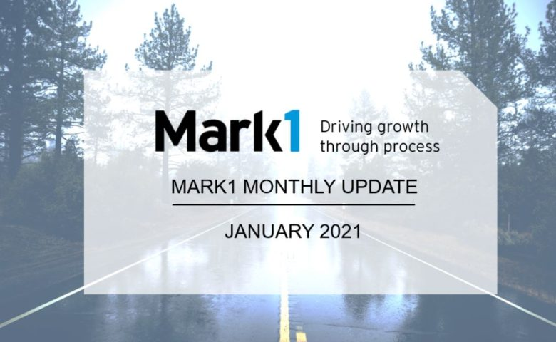 A background image of a road with trees either side in the rain with a banner in the fore front announcing the February newsletter